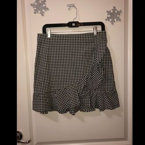 Picnic Plaid Ruffled Mini Skirt